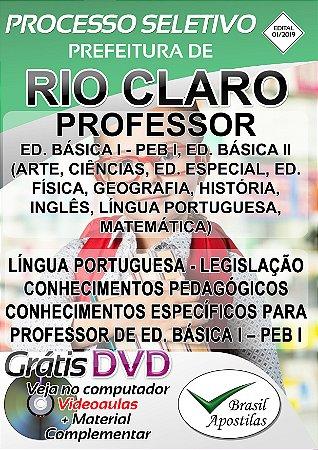 Rio Claro - SP - 2019 - Apostila Para Professor