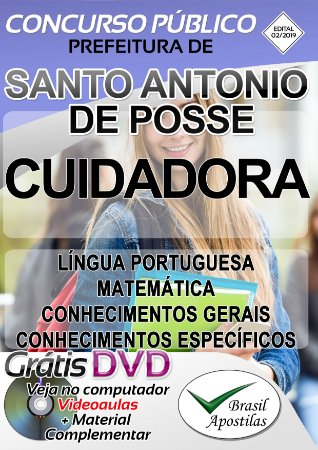 Santo Antônio de Posse - SP - 2019 - Apostila Para Cuidadora