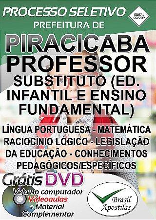 Piracicaba - SP - 2019/2020 - Apostila Para Professor