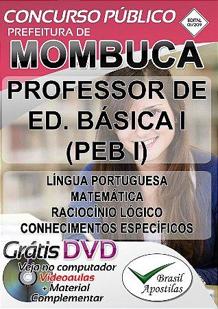 Mombuca - SP - 2019 - Apostila Para Professor de Educação Básica - PEB I