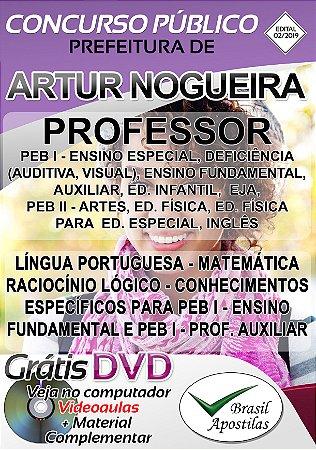 Artur Nogueira - SP - 2019 - Apostila Para Professor