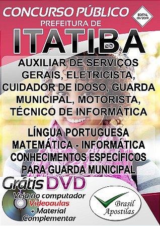 Itatiba - SP - 2019/2020 - Apostilas Para Nível Fundamental, Médio e Superior