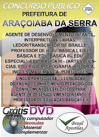 Araçoiaba da Serra - SP - 2019 - Apostila Para Nível Superior