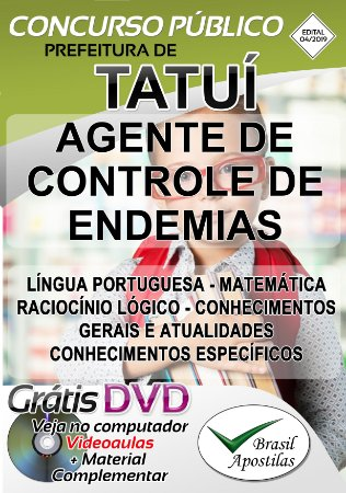 Tatuí - SP - 2019/2020 - Apostila para Agente de Controle de Endemias