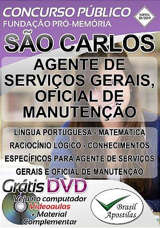 São Carlos - 2019/2020 - Pró-Memória - Apostilas Para Nível Fundamental e Médio