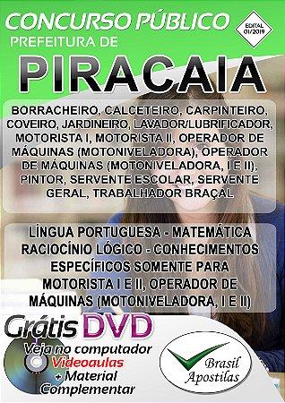 Piracaia - SP - INDEPAC - 2019/2020 - Apostilas Para Nível Fundamental, Médio e Técnico