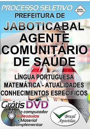 Jaboticabal - SP - 2019/2020 - Apostila Para Agente Comunitário de Saúde