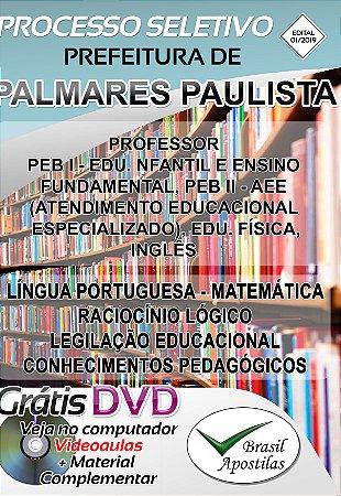 Palmares Paulista - SP- 2019/2020 - Apostila Para Professor