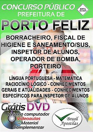 Porto Feliz - SP - 2019/2020 - Apostilas Para Nível Fundamental, Médio e Superior