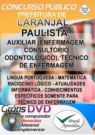 Laranjal Paulista - SP - 2019/2020 - Apostilas Para Nível Médio e Técnico