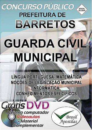 Barretos - SP - 2019/2020 - Apostila Para Guarda Civil Municipal