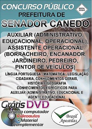 Senador Canedo - SP - 2019/2020 - Apostilas Para Fundamental, Médio, Técnico e Superior