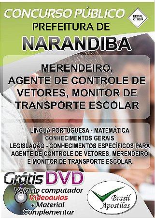 Narandiba - SP - 2019/2020 - Apostilas Para Nível Fundamental, Médio e Superior