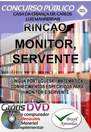 Rincão - SP - 2019/2020 - Casa da Criança Dr. Carlos Luiz Manferrari - Apostilas Para Nível Fundamental, Médio e Superior