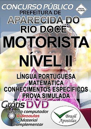 Aparecida Do Rio Doce - GO - 2020 - Apostila Para Motorista Nível II