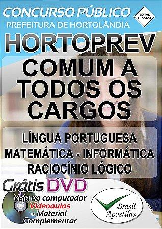Hortolândia - HORTOPREV - 2020 - Apostila Comum a Todos os Cargos