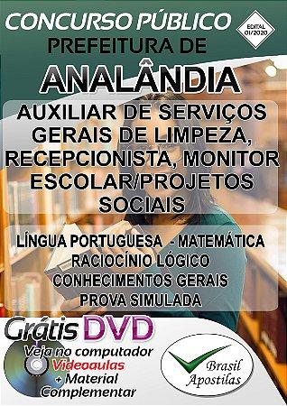 Analândia - SP - 2019/2020 - Apostilas Para o Nível Fundamental, Médio e Superior