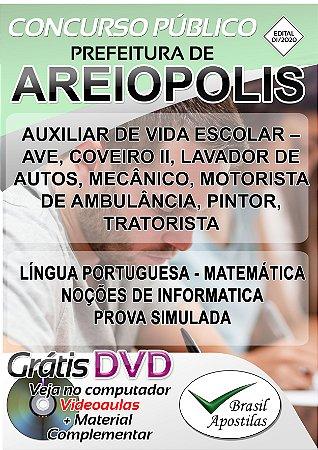 Areiopolis - SP - 2020 - Apostilas Para Nível Fundamental, Médio, Técnico e Superior