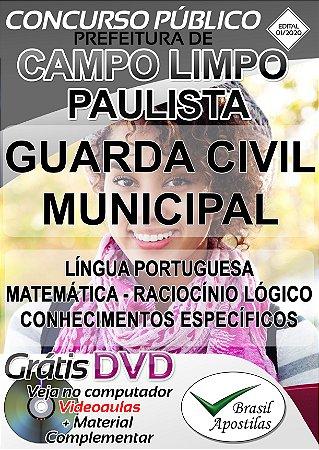 Campo Limpo Paulista - SP - 2020 - Apostila Para Guarda Civil Municipal
