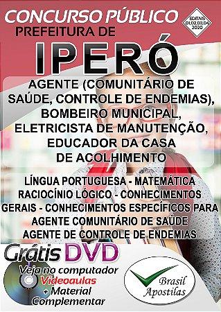 Iperó - SP - 2020 -Apostilas Para Nível Fundamental, Médio e Técnico