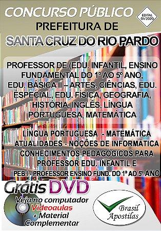 Santa Cruz do Rio Pardo - SP - 2020 - Apostila Para Professor