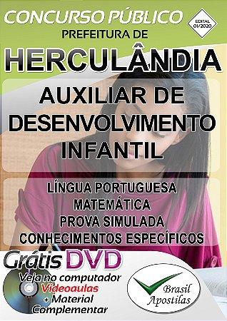 Herculândia - SP - 2020 - Apostila para Auxiliar de Desenvolvimento Infantil