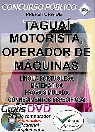 Taguaí - SP - 2020 - Apostilas Para Nível Fundamental e Superior