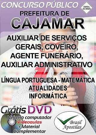 Cajamar - SP - 2020 - Apostilas Para Nível Fundamental, Médio, Técnico e Superior