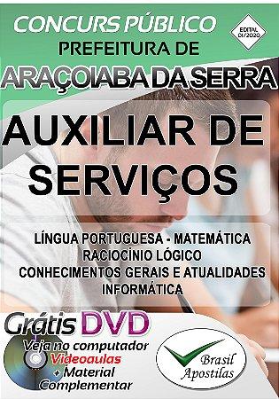 Araçoiaba da Serra - SP - 2020 - Apostilas Para Nível Fundamental, Médio, Técnico e Superior