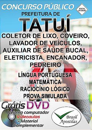Tatuí - SP - 2020 - Apostilas Para Nível Fundamental, Médio e Técnico