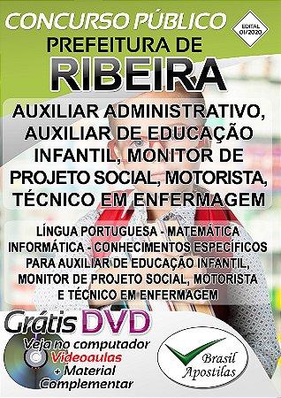 Ribeira - SP - 2020 - Apostilas Para o Nível Fundamental, Médio e Superior