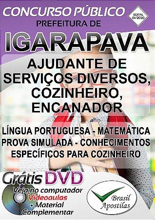 Igarapava - SP - 2020 - Apostilas Para Nível Fundamental, Médio, Técnico e Superior