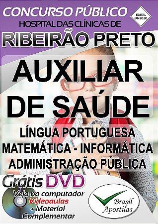 Hospital das Clínicas de Ribeirão Preto - SP - 2020 - Apostilas Para Nível Fundamental, Médio e Técnico
