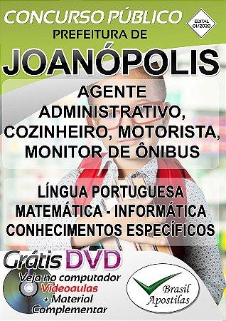 Joanópolis - SP - 2020 - Apostilas Para Nível Fundamental e Superior