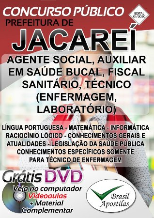 Jacareí - SP - 2020 - Apostilas Para Nível Médio, Técnico e Superior