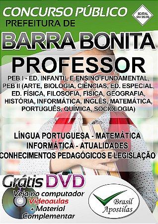 Barra Bonita - SP - 2020 - Apostila Para Professor