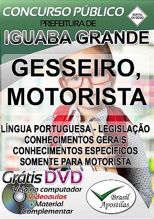 Iguaba Grande - RJ - 2020 - Apostilas Para Nível Fundamental, Médio, Técnico e Superior