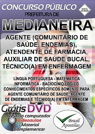 Medianeira - PR - 2020 - Apostilas Para o Nível Fundamental, Médio e Superior