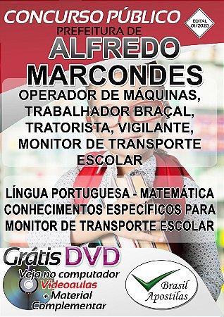Alfredo Marcondes - SP - 2020 - Apostilas Para o Nível Fundamental, Médio e Superior