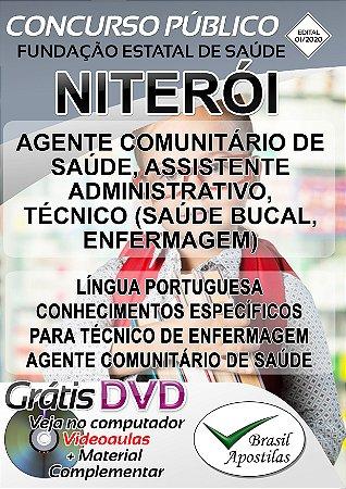 Niterói - FESAÚDE - RJ- 2020 - Apostila Para Nível Médio