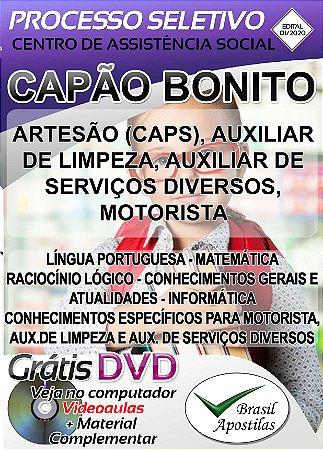 Capão Bonito - SP CASCB - 2020 - Apostilas Para Nível Fundamental, Médio e Técnico