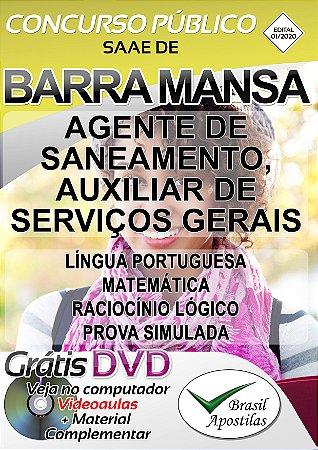SAAE de Barra Mansa - RJ - 2020 - Apostila Para Guarda Civil Municipal