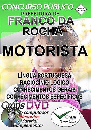 Franco da Rocha - SP - 2020 - Apostila Para Motorista