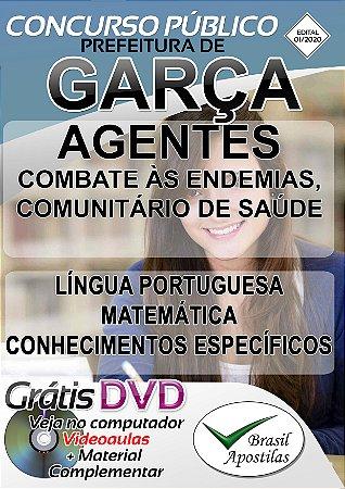 Garça - SP - 2020 - Apostila Para Agente De Combate Às Endemias, Agente Comunitário De Saúde