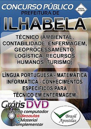 Ilhabela - SP - 2020 - Apostilas Para Nível Técnico e Superior