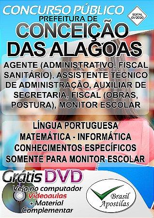 Conceição das Alagoas - MG - 2020 - Apostilas Para o Nível Fundamental, Médio e Superior
