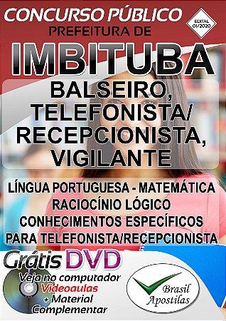 Imbituba - SC - 2020 - Apostilas Para o Nível Fundamental, Médio e Superior