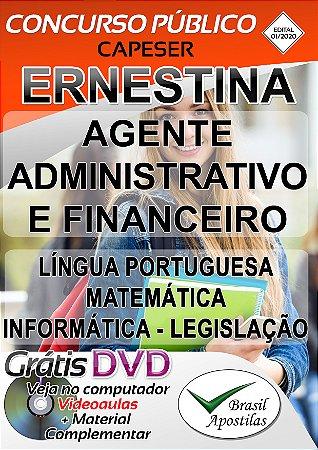 Ernestina CAPESER - MG - 2020 - Agente Administrativo e Financeiro