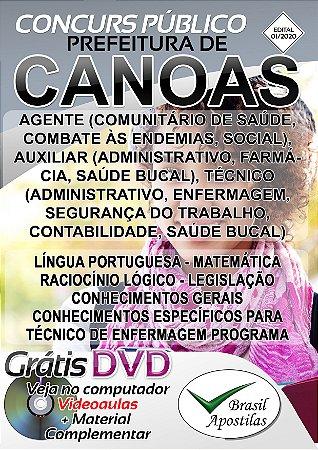 Canoas - RS - 2020 - Apostila Para Nível Médio e Técnico
