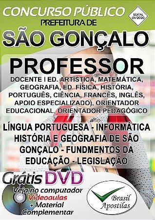 São Gonçalo - RJ - 2020 - Apostilas Para Nível Fundamental, Médio e Superior